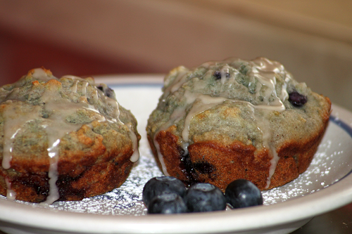 Rainbow's Blueberry Muffins, with a healthier twist